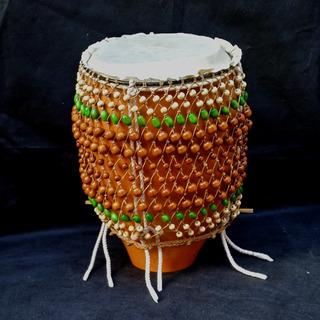 Tambor Shekere. Azalea Artesanías. Instrumento Artesanal.