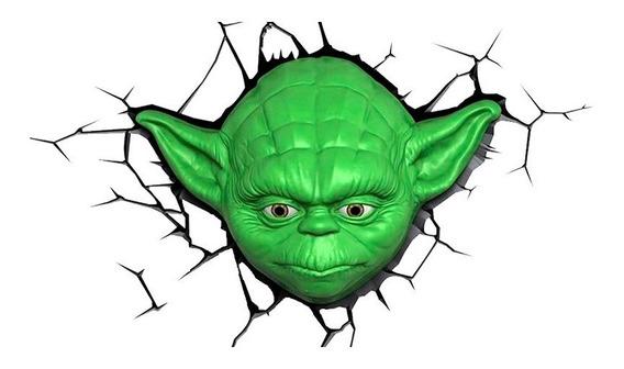 Lámpara De Pared 3d Star Wars Yoda The Force Awakens
