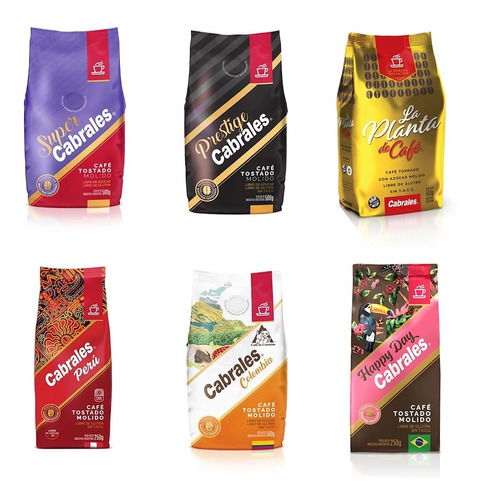 6x Combo Pack A Eleccion Cafe Molido Cabrales 500g 3kg