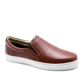 Sapatênis Masculino 4048 Em Couro Floater Pinhão Doctor Shoe