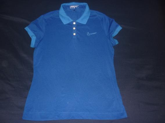 L Chomba Golf Dama Nike Dri Fit Azul Talle M Art 52667