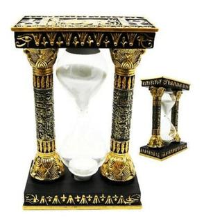 Reloj D Arena Egipcio Símbolos Ojo De Orus Y Cruz Anhk (anj)
