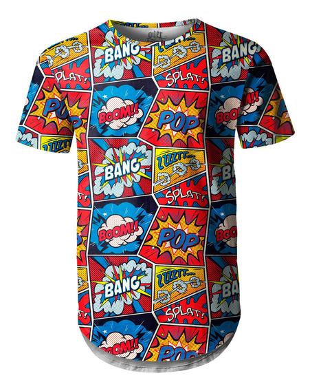 Camiseta Masculina Longline Swag Retro Pop Arte