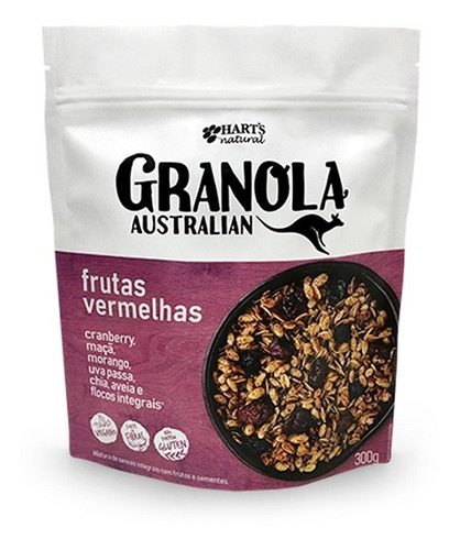 Granola Australia Frutas Vermelhas Hart´s 300g