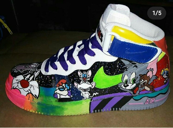 Tenis Nike Air Force One Customizado Desenho Cartoon Network
