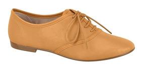 Sapato Oxford Feminino Beira Rio Camel Napa 4150200
