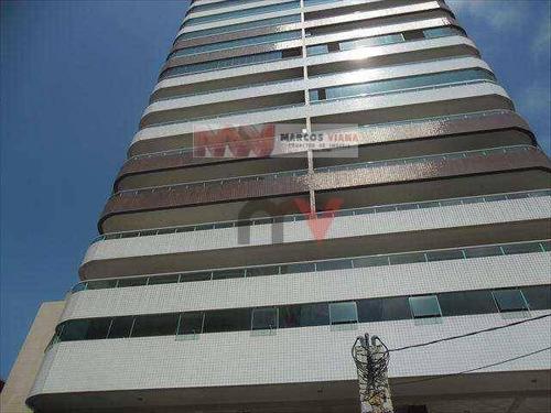 Apartamento À Venda, 130 M² Por R$ 900.000,00 - Vila Guilhermina - Praia Grande/sp - Ap0229