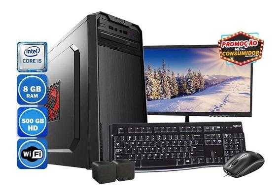 Computador Pc Completo I5 3° Geração 8gb Hd 500gb + Wi-fi