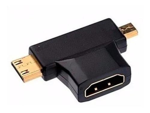 Adaptador Hdmi H ~ Mini + Micro Hdmi Nm-c8