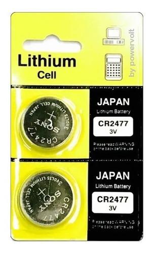 Bateria Sony Cr2477 Lithium 3v Japan | Cart. C/02 Pilha