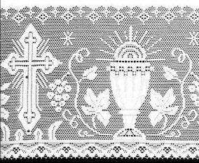 Renda Liturgica 10 Mts X 30 Cms Larg - P/ Toalha De Altar