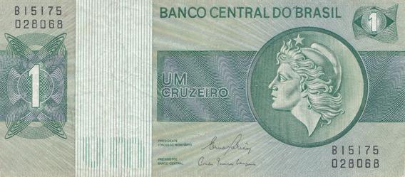 Nota Cédula Dinheiro 1 Um Cruzeiro