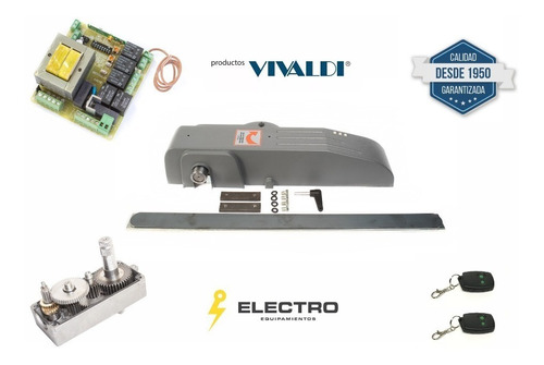 Kit Motor Portón Levadizo Vivaldi Apl 0,20hp Placa Am2016
