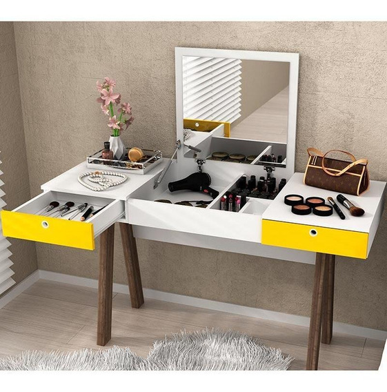 Penteadeira Escrivaninha Com 2 Gavetas Pe2002 - Tecno Mobili