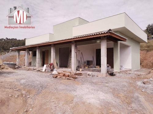 Linda Chácara Em Construção, Com Escritura, 03 Dormitórios, Bem Localizada, À Venda, 1500 M² Por R$ 370.000 - Rural - Pedra Bela/sp - Ch0875