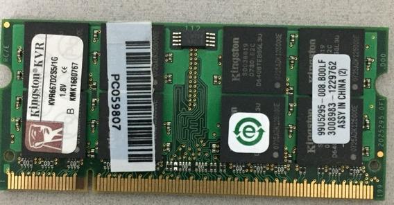 Memória Notebook Kingston 1gb Ddr2 667mhz - Kit Com 4 Unid.