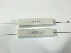 Kit 2 Resistor Cerâmica { Porcelana }10r - Ohms - 10w