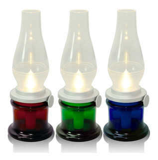 Lámpara De Mesa Led Decoración Tipo Farol Vela