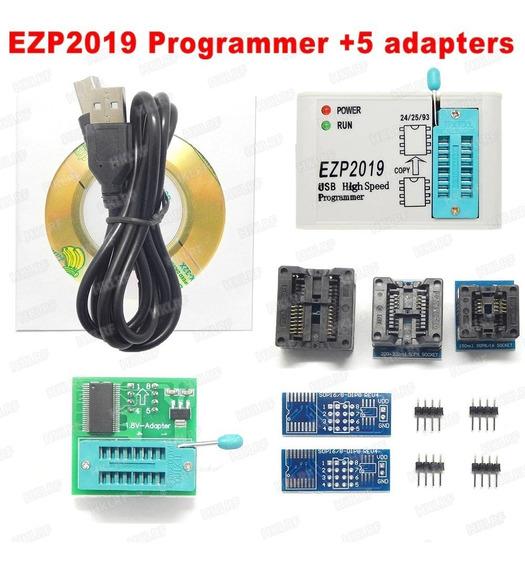 Gravador Eprom Flash Programador Soic Ezp2019 + Adaptadores