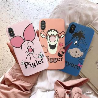 Funda Winnie Pooh Tigger Igor Puerquito iPhone + Mica Vidrio
