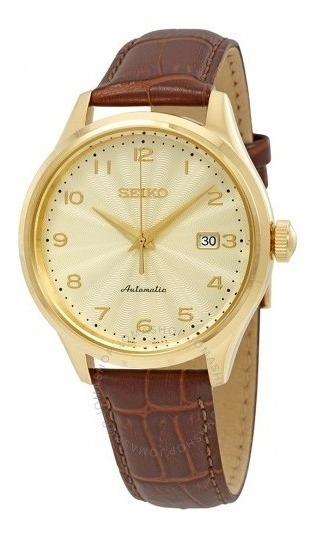 Relógio Seiko Automático Champagne/dourado/marrom Original