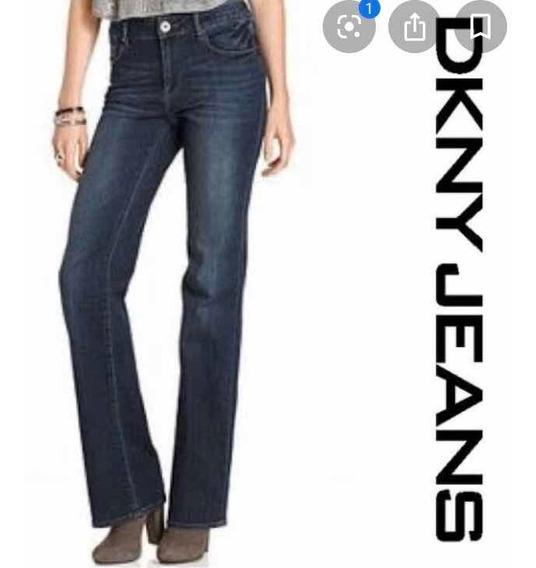 Dkny Jeans Pantalón Mezclilla Denim Recto Poca Campaña Donna