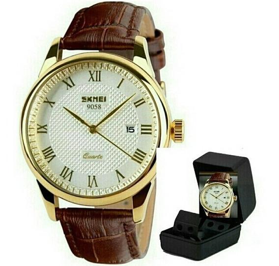 Relógio De Pulso Masculino Skmei 9058 Luxo Original