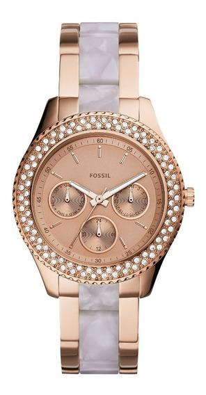 Relógio Fossil Feminino Cronógrafo Dourado Es4755/1jn