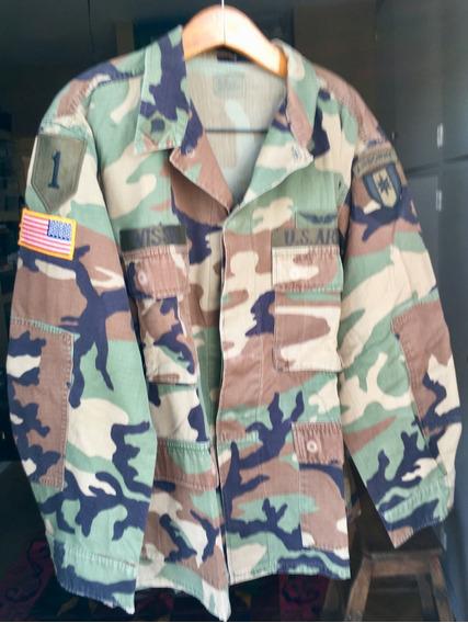 Chaqueta Ripstop Camo Selva U S Army Large Short Con Parches