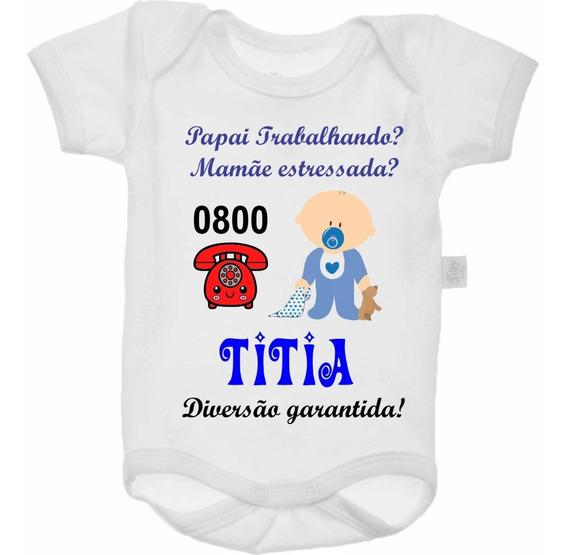 Bodys Bebê Bori Titias 0800 Personalizados Roupas Bebê
