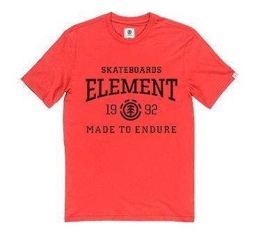 Remera M/c Element Victory Tee Rojo Fuego Hombre 21107011