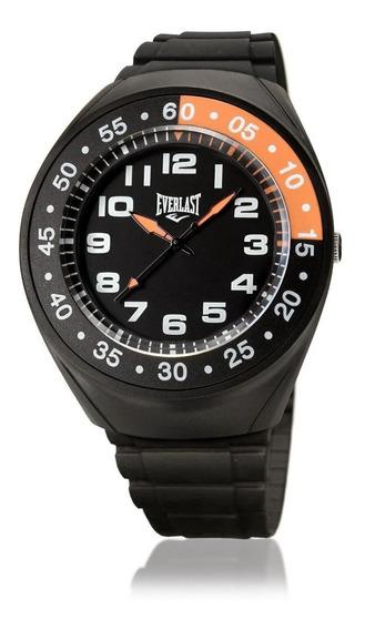 Relógio Masculino Caixa E Pulseira Pu Everlast E3021
