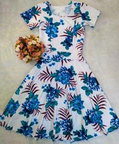 Vestido Midi Feminino Moda Evangélica Godê