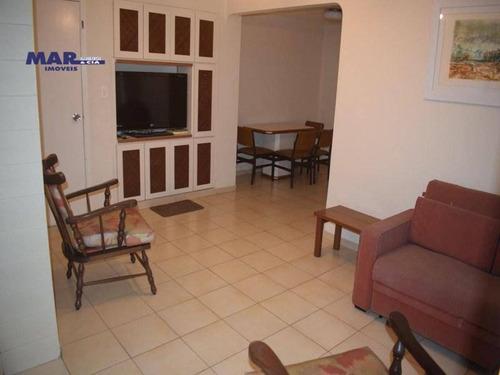 Imagem 1 de 8 de Apartamento À Venda No Guarujá,  Próximo Da Praia, Região Central, Sacada, 02 Vagas De Garagem. - Ap10468