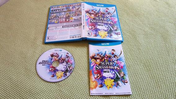 Super Smash Bros Wii U Completo Americano Tudo 100% A1