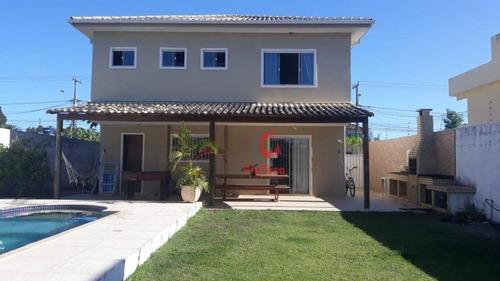 Imagem 1 de 14 de Casa Duplex Com 3 Suítes, Piscina À Venda, 137 M² Por R$ 550.000 - Floresta Da Gaivota - Rio Das Ostras/rj - Ca2315