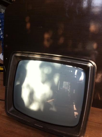 Tv Televisão Antiga Philco De Luxe 12 Funcionando