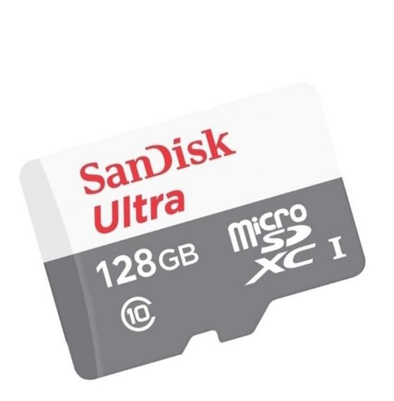 Cartão De Memória Micro Sd 128gb Ultra Hd Classe 10 80 Mb/s
