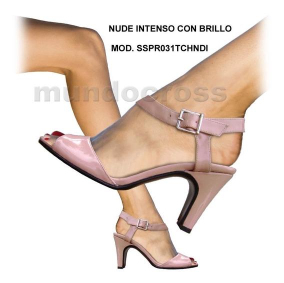 Bellas Elegantes Sandalias Clásicas Con Taco De 9 Cm. En Talles Grandes Marca Mundocross