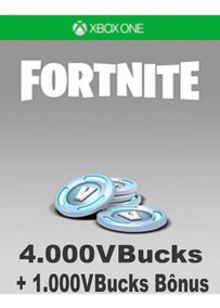 Fortnite - 4000 (+ 1000 De Bônus) V-bucks - Xbox One
