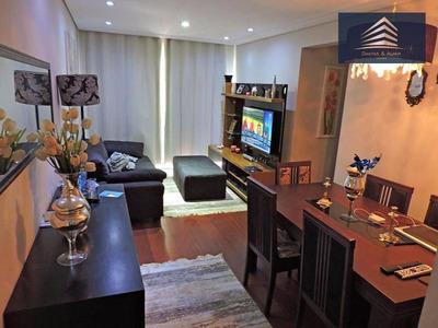 Apartamento No Condomínio Suprema, 75m², 3 Dormitórios, 1 Suíte, 2 Vagas, Vila Augusta. - Ap0553