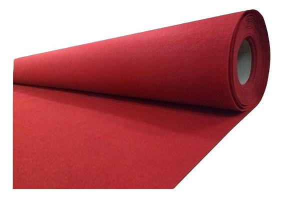 Alfombra Boucle Punzonada Tapizmel Por Rollo 100 M2 Rojo