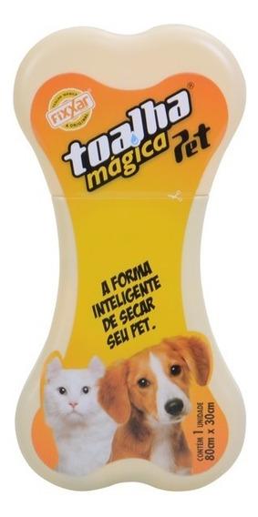 Toalha Magica Original Fixxar Pet 80x30cm Cães Petshop