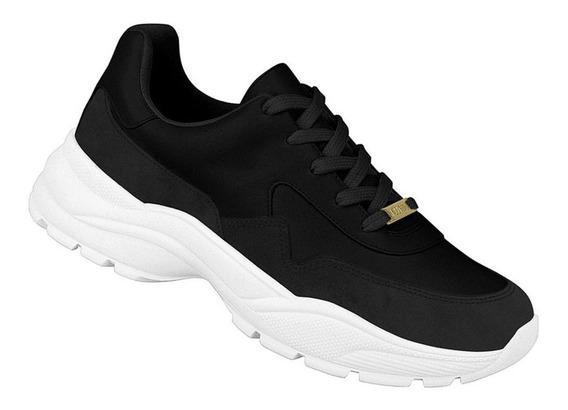 Tênis Vizzano Feminino Sneaker Preto 1331101 Sola Alta