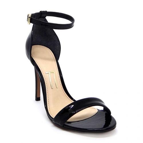 711db83de Sapato Salto Alto Branco/preto Brilhante - Sapatos com o Melhores ...