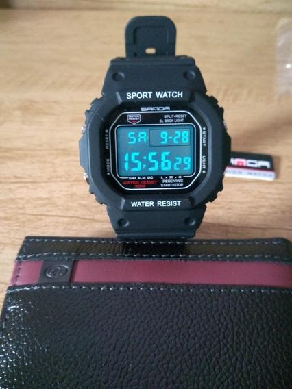 Relógio Digital Importado Sanda 329 Sport A Prova D Água