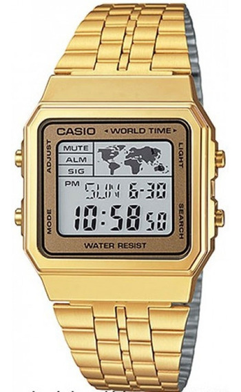 Relógio Casio Vintage World Time A500wga-9df