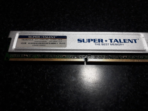 Memoria Ram Super Talent 1gb Ddr2 800mhz