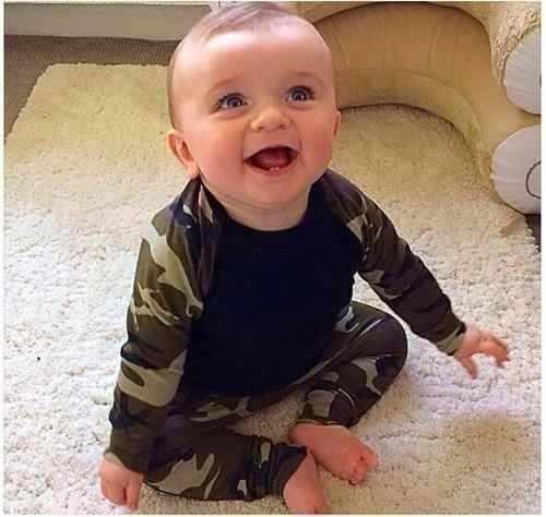 Conjunto Roupa Bebe Camuflada Infantil Menino Importada