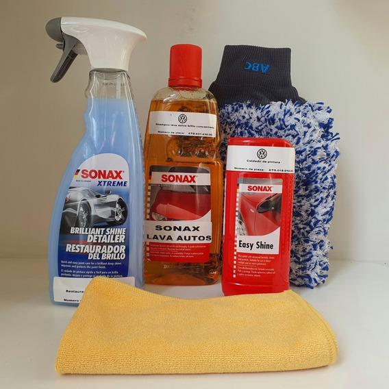 Kit Sonax Lavado Autos Exterior Shampoo + Guantes + Otros